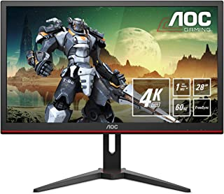 AOC G2868PQU, Monitor Gaming UHD (Resolución 3840X2160 Pixeles, 1Ms, AMD Freesync, 60Hz, Altavoces), 28