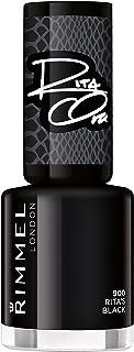 Rimmel London, 60 Seconds Super Shine Nail Polish 900 Rita's Black, 8 ml - 0.25 fl oz