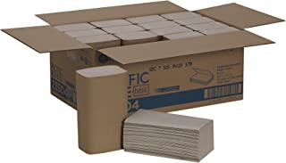 Pacific Blue Basic S-Fold Recycled Paper Towel by GP PRO (Georgia-Pacific), Brown, 23504, 250 Towels per Pack, 16 Packs Per Case- 9.2