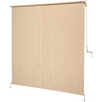 Coolaroo Exterior Roller Shade, Cordless Roller Shade with 90% UV Protection, No Valance, (6' X 6'), Southern Sunset