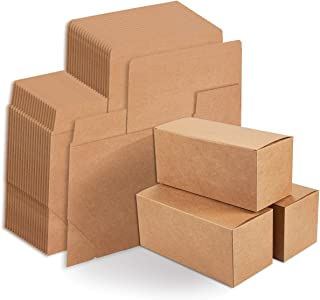 Kraft Gift Boxes - 20-Pack Rectangle Gift Wrapping Brown Paper Boxes with Lids, Kraft Boxes for Party Supplies, Cupcake Containers, Wedding Favors, 9 x 4 x 4 Inches