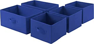 AmazonBasics Extra Wide Fabric 5-Drawer Storage Organizer - Replacement Drawers, Royal Blue (Renewed)