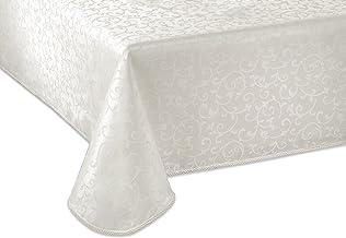 "Lenox Opal Innocence 60""x140"" Oblong Tablecloth, Platinum"