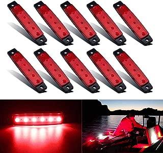 CYTHERIA Pontoon Boat Lights,  Green Lights for Touring Kayaks,  Boat Lighting Strip for Kayak Lighting,  Led Boat Lights Waterproof Night Fishing for Inflatable Rafts 12v Boat Light Strips 10PCS