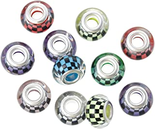 Pack of 20 Beads Resin European Style Charm Beads Round At Random