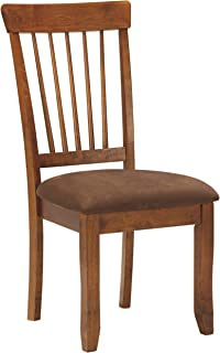 Best Signature Design by Ashley - Berringer Upholstered Dining Side Chair, Rustic Brown Review