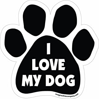 Imagine This Paw Car Magnet, I Love My Dog, 5-1/2-Inch by 5-1/2-Inch