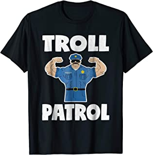 Troll Patrol Retro Police Officer Muscle Security T-Shirt
