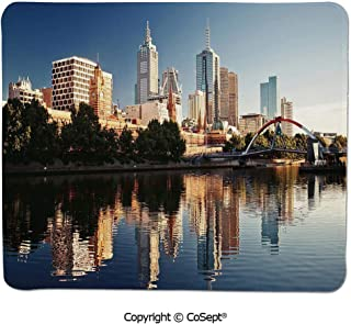 Quality Selection Comfortable Mouse Pad,Idyllic View of Yarra River Melbourne Australia Architecture Tourism,for Laptop,Computer & PC (11.81