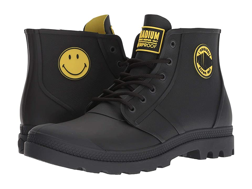 Palladium Pampa Smiley Rain Waterproof (Anthracite) Lace up casual Shoes