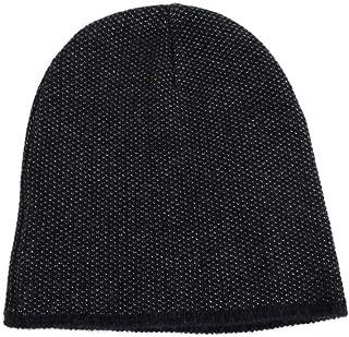 Unisex Dark Blue Wool Cashmere Cotton Beanie Hat with Logo 352350 4079