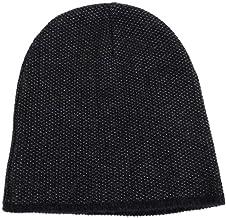 Gucci Unisex Dark Blue Wool Cashmere Cotton Beanie Hat with Logo 352350 4079