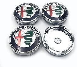 "Hanway 4pcs 60mm 2.36"" ALFA ROMEO Wheel Hub Cap Centre Cover ALFA ROMEO Emblem Badge Sticker chrome"