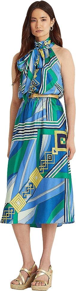 Print Twill Sleeveless Dress