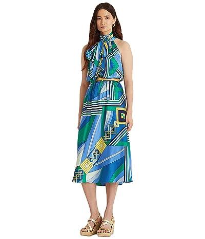 LAUREN Ralph Lauren Print Twill Sleeveless Dress