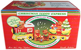Giftco, Inc Christmas Teddy Express Music Box & Candle Holder Plays Toyland
