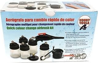 Completo Set de Aerografia con cambio rapido de color. 5 depositos, manguera y adaptadores