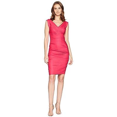 Nicole Miller Andrea Stretch Linen Dress (Shocking Rosa) Women