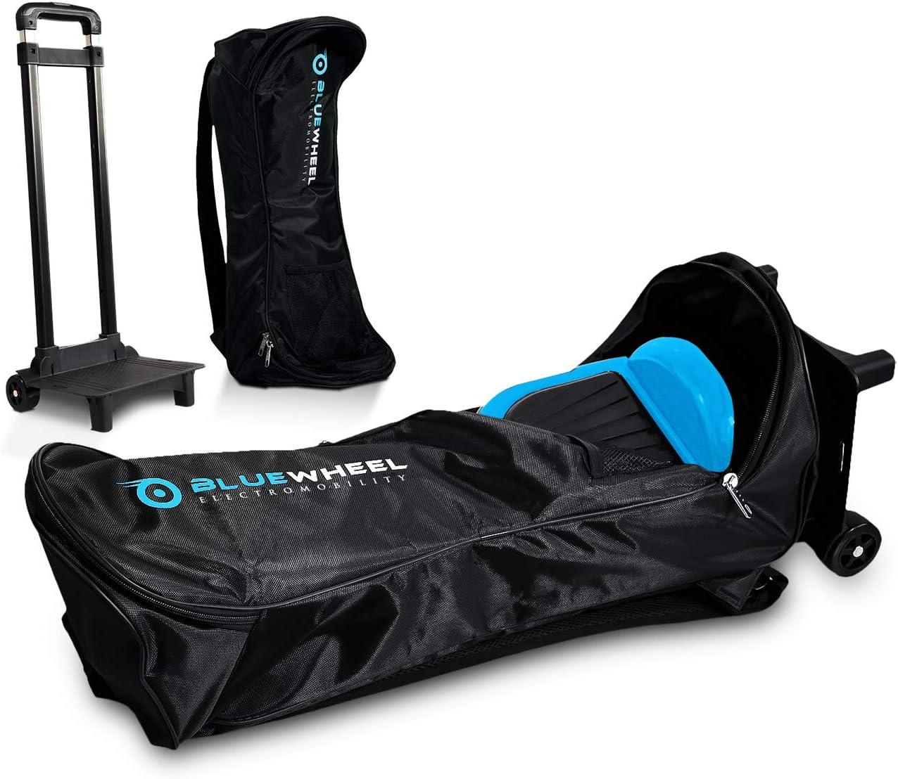 Mochila para Hoverboard - Bluewheel CASE6.5 / CASE10 - Trolley con 2 Ruedas, 2 almohadones para la Espalda, asa retráctil y Bolsillos - Repelente al Agua y Duradero - para 6,5 o 10 Pulgadas