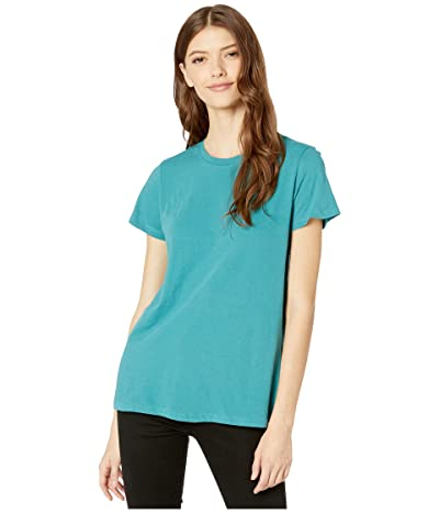 Hurley Solid Perfect Crew T-Shirt Short Sleeve (Mineral Teal) Women