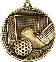 Lapal Dimension Hockey Deluxe Medal - Antiek Goud 6,0 cm Pack van 10