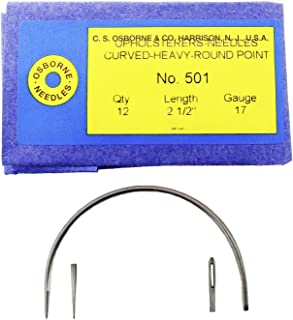 C.S. Osborne Pack Of 12 Curved Needles Heavy #501-2-1/2 (Size 2-1/2