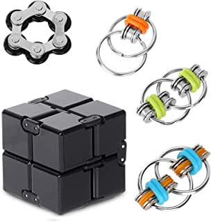 Anti-Anxiety Toys,Fidget Finger Toys,Cool Mini Gadget,Contain Infinity Cube ,Flippy Chain,Roller Chain, Relieving Stress B...