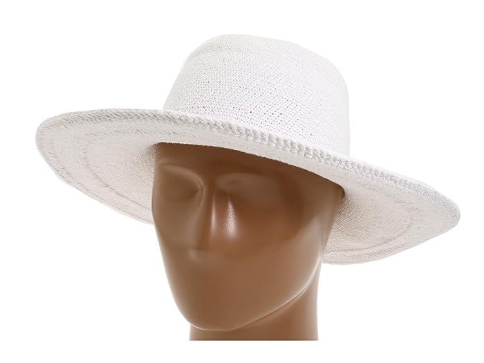 13999864 Hippie Hats, 70s Hats San Diego Hat Company CHL5 Floppy Sun Hat White Knit  Hats