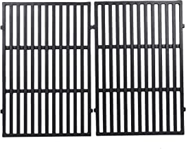 GGC Grill Grid Grates Replacement for Weber Spirit 300 Series, Spirit 700, 7638, Genesis Silver B/C, Genesis Gold B/C and Others, Set of 2 Porcelain-Enameled Cast Iron Grates(17.5