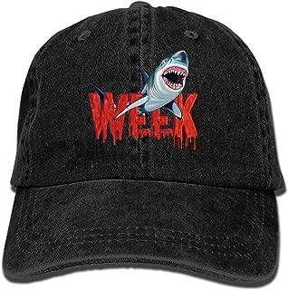 Custom Week of The Shark Classic Cotton Adjustable Baseball Cap, Dad Trucker Snapback Hat Black