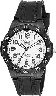 Q&Q Men's White Dial Resin Band Watch - GT44J010Y
