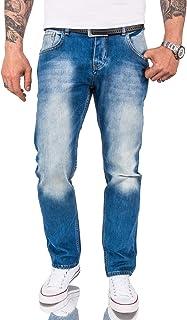 Rock Creek Jeans en Denim pour Hommes Jean Bleu Coupe Droite Jambe Droite RC-2091