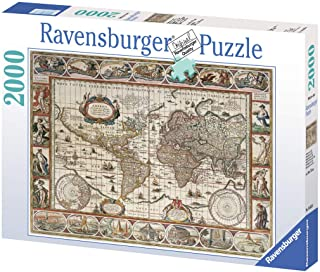 Ravensburger Map of the World from 1650, 2000 Piece Jigsaw Puzzle for Adults & for Kids Age 12 and Up
