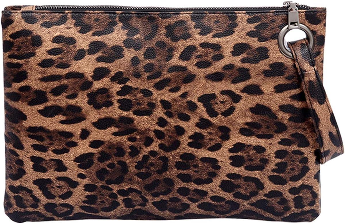 UBORSE Oversized Wristlet Clutch Bag Purse for Women Faux Leather Envelope Evening Handbags