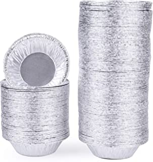 Yesland 500 Pack 3 Inch Aluminum Foil Tart & Pie Tins Pans, Disposable Pans for Baking, Cooking, Storage & Reheating