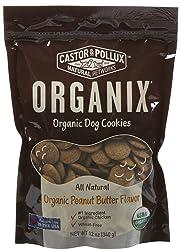 Castor & Pollux Organix Dog Cookies Peanut Butter, 12 oz