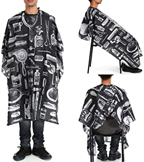 Hair Cutting Gown,Professional Adult Haircut Cloth Printed Black Hot Dye Shaving Cloth Hairdressing Tools