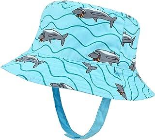 Mengar UPF 50+ Kids Sun Hat, Reversible Cotton Baby Boy Sun Bucket Hats UV Protective
