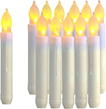 Raycare 12PCS LED Flameless Taper Candle Lights, Movie Theme Floating Candles, Battery Operated Tapered Candles for Party, Church, Christmas Decorations