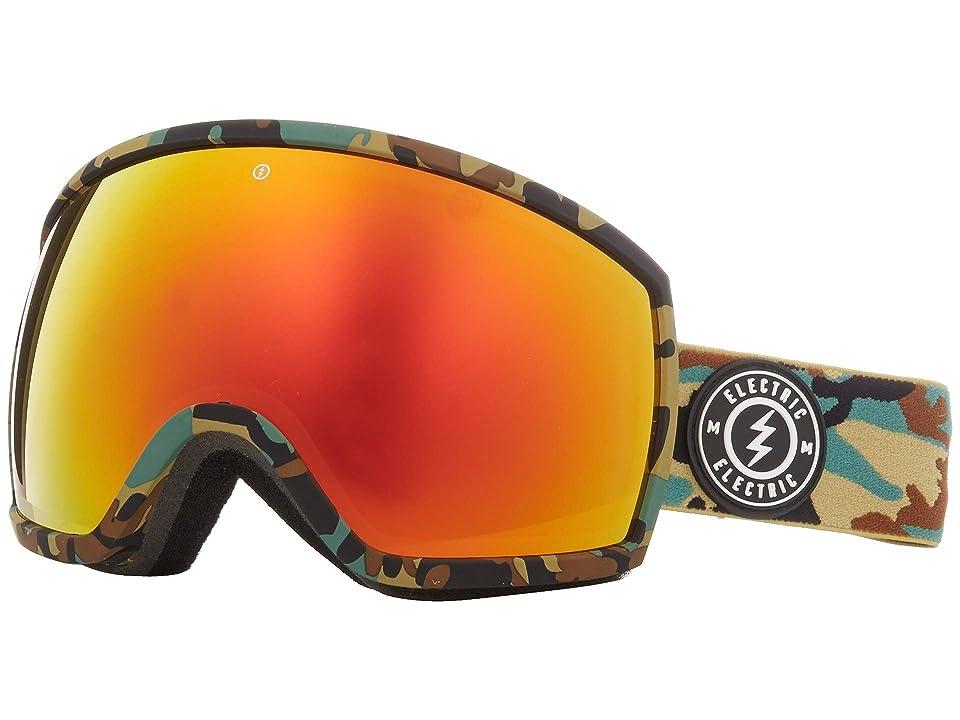 Electric Eyewear EGG (Camo Brose/Red Chrome) Athletic Performance Sport Sunglasses