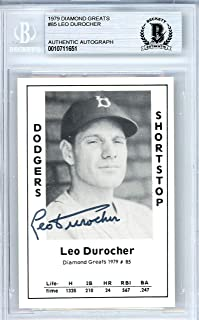 Leo Durocher Autographed 1979 Diamond Greats Card Autographed #85 Brooklyn Dodgers - Beckett Authentic