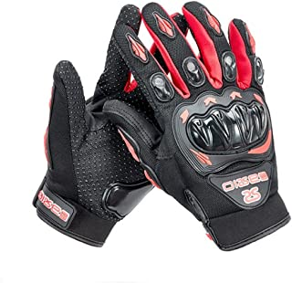 Wonzone Motorcycle gloves Full finger for Road Racing Bike Summer Spring Powersports Racing MTB BMX ATV Off-Road Sports Gloves