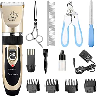Ceenwes Dog Clippers Low Noise Pet Clippers Rechargeable...