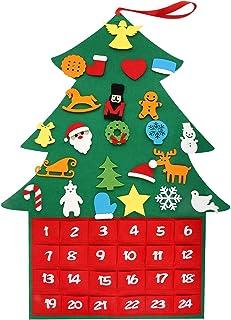 T98 クリスマスカレンダー タペストリー 飾り 壁掛け カウントダウン アドベントカレンダー デコレーション 布製 フェルト