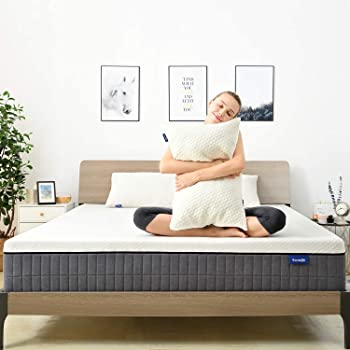 King Mattress,Sweetnight 12 Inch King Size Mattress in Box,Pillow Top Gel Memory Foam Mattress for Motion Isolation & Cool Sleep,Removable & Washable Mattresses Cover,Sunkiss
