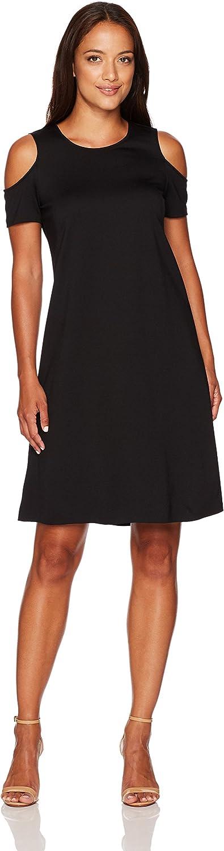Ellen Tracy Womens Open Shoulder Dress Dress