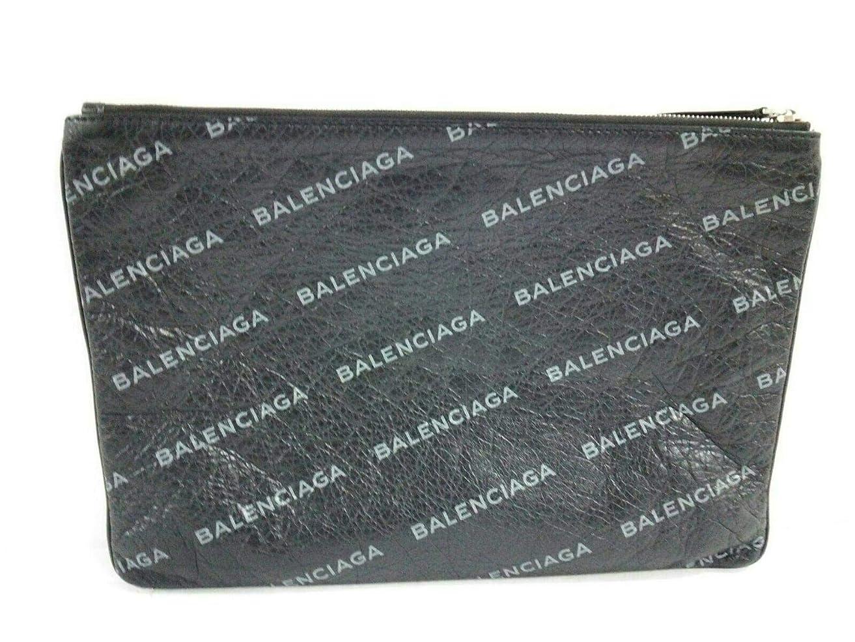 意欲内向きうがい(バレンシアガ)BALENCIAGA クラッチバッグ 黒×グレー 506794 【中古】