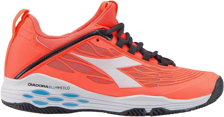 Diadora - Speed Blaushield Fly Clay Damen Tennisschuh (Koralle wei) - EU 36,5 - UK 4
