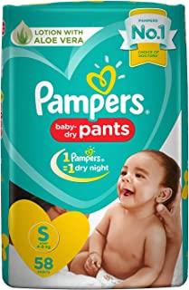 Pampers New Diaper Pants, Small, 58 Count