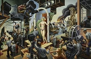 Thomas Hart Benton - Hollywood, Size 24x36 inch, Poster art print wall décor
